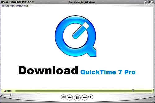 Download QuickTime 7 Pro Player