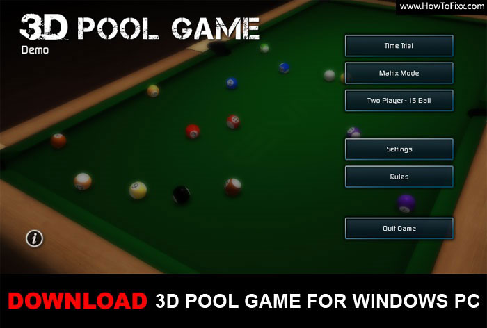 3D Pool Game for PC